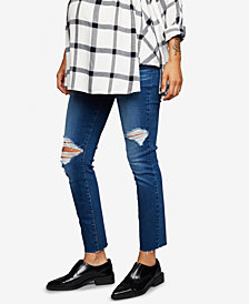 Paige Maternity Distressed Skinny Jeans