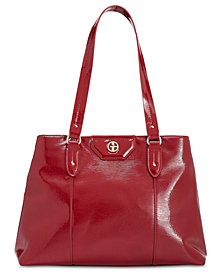 Giani Bernini Bark Patent Tote, Created for Macy's