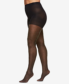 Berkshire Plus Size The Easy On! Diamond Metallic Tights