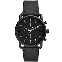 Deals on Fossil Men's Chronograph Commuter Leather Strap Watch FS5504