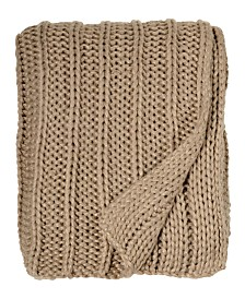 Michael Aram Gold Rib Knit Rib Beaded Throw