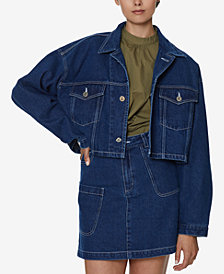 INSPR x Natalie Off Duty Crop Denim Jacket, Created for Macy's
