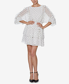 INSPR x Natalie Off Duty Mini Dot Ruffle Dress, Created for Macy's