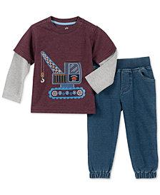 Kids Headquarters Baby Boys 2-Pc. Layered-Look T-Shirt & Jogger Pants Set