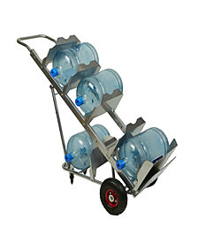 Mind Reader Bottled Water Jug Hand Truck with Grip Handle, Silver