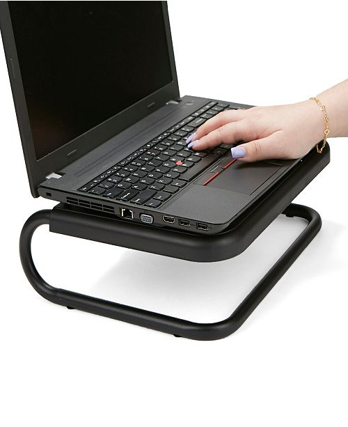 Mind Reader Metal Monitor Stand Riser, Black