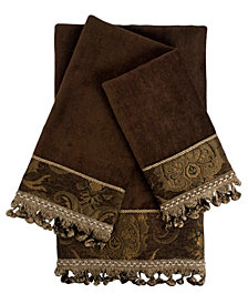 Sherry Kline China art Decorative Embellished Towel Set