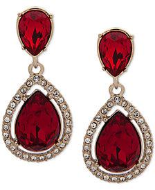 Givenchy Stone & Crystal Teadrop Halo Drop Earrings