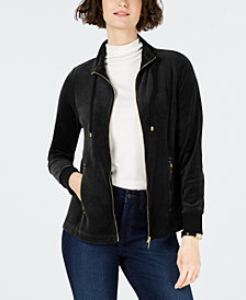 Charter Club Velour Sport Jacket, Created for Macy's