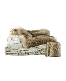 Faux Fur Moire Throw