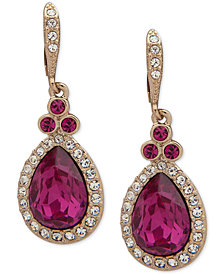 Givenchy Pavé & Colored Stone Drop Earrings