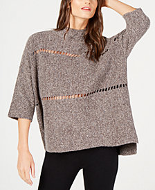 French Connection Cutout Mock-Neck Sweater