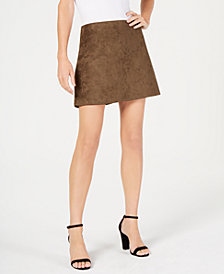 French Connection Faux-Suede Mini Skirt