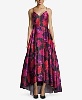 214a9644972 Betsy   Adam Floral-Print High-Low Gown