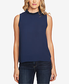 CeCe Ruffle-Neck Blouse