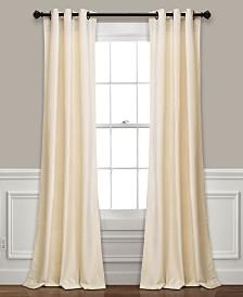 "Prima Velvet Solid 84"" x38"" Room Darkening Window Curtain Set"