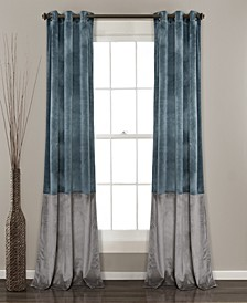 "Prima Velvet Colorblock 38"" x 84"" Curtain Set"