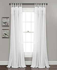 "Lydia Ruffle 40"" x 84"" Curtain Set"