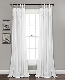 "Lydia Ruffle 84""x40"" Window Curtain Panels Set"