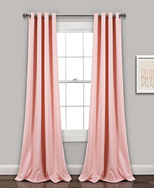 "Lush Décor 84""x52"" Insulated Grommet Blackout Curtain Panels Set"