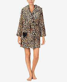 Betsey Johnson Printed Plush Short Robe