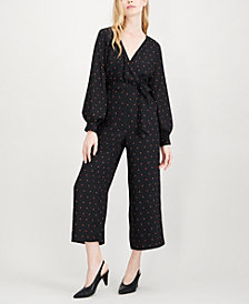 Maison Jules Printed Wide-Leg Jumpsuit, Created for Macy's