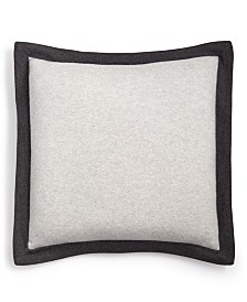 CLOSEOUT! Hotel Collection Colorblocked Cashmere European Sham, Created for Macy's