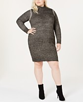 c33349f3e64 One A Plus Size Whipstitched Sweater Dress