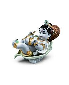 Lladró Krishna on Leaf Figurine