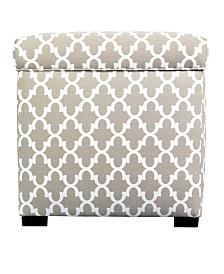 MJL Furniture Designs Sole Secret Upholstered Square Shoe Storage Ottoman