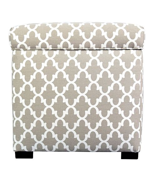 MJL Furniture Designs Sole Secret Upholstered Square Shoe Storage Ottoman