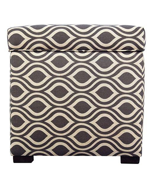 MJL Furniture Designs Sole Secret Upholstered Small Shoe Storage Ottoman