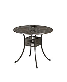 "Home Styles Largo 42"" Taupe Round Outdoor Dining Table"