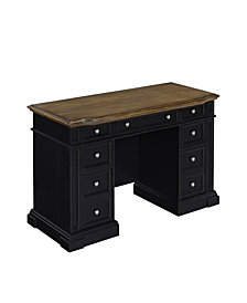 Home Styles Americana Black Pedestal Desk