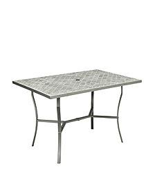 Home Styles Umbria Concrete Tile Rectangular Outdoor Table