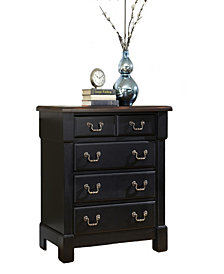Home Styles The Aspen Collection Black Drawer Chest