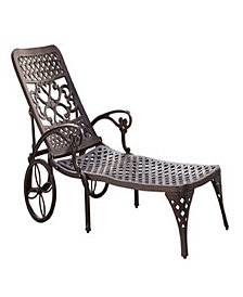Home Styles Biscayne Bronze Chaise Lounge Chair