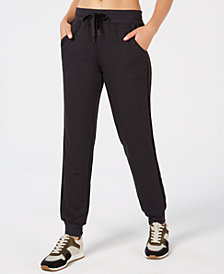 Ideology Velour-Stripe Joggers, Created for Macy's