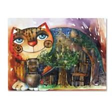 Oxana Ziaka 'Alpes Cat' Canvas Art Collection