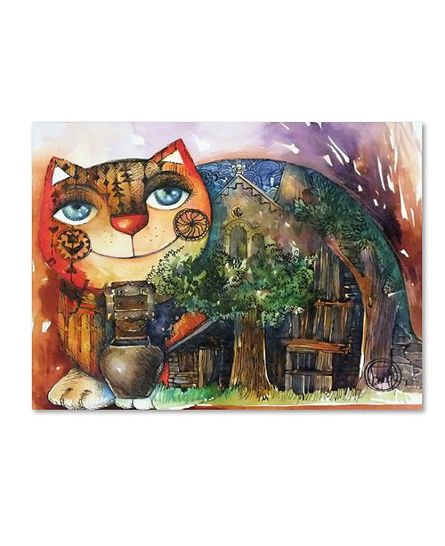 "Trademark Global Oxana Ziaka 'Alpes Cat' Canvas Art - 19"" x 14"" x 2"""