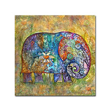 Oxana Ziaka 'Runes Elephant' Canvas Art Print Collection