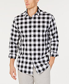 Club Room Men's Check Pocket Shirt, Created for Macy's