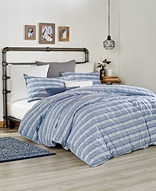 Home Puckered Stripe Full/Queen Duvet