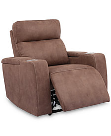 Oaklyn Fabric Power Recliner With Power Headrest And USB Power Outlet