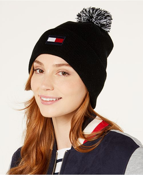 800d2ab293b Tommy Hilfiger Pom Pom Ski Hat - Handbags   Accessories - Macy s