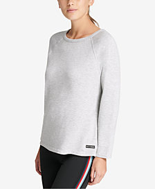 DKNY Sport Ribbed-Knit Tie-Back Top