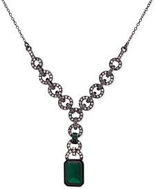"Lauren Ralph Lauren Pavé & Stone Lariat Necklace, 18"" + 3"" extender"