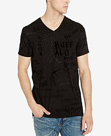 Buffalo David Bitton Men's Kofiti V-Neck Graffiti T-Shirt