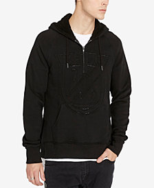 Buffalo David Bitton Men's Half-Zip Logo Hoodie