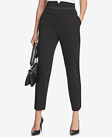 Calvin Klein High-Waist Straight-Leg Pants